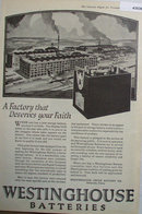 Westinghouse Batteries 1920 Ad