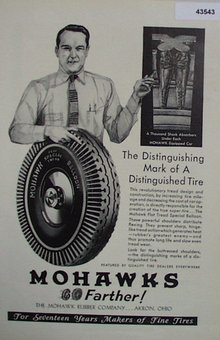 Mohawk Rubber Co. 1907 To 1912 Ad