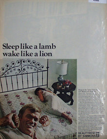 Beauty Rest By Simmons Mattress 1967 Ad