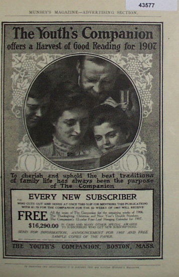 The Youths Companion 1907 Ad