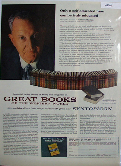 Great Books By Encyclopedia Britannica 1960 Ad