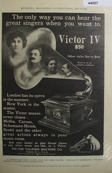 Victor IV Talking Machine 1907 To 1912 Ad