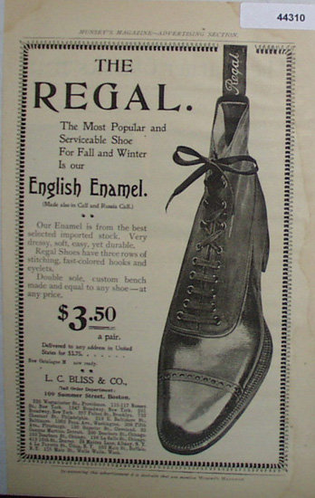 Regal English Enamel Shoe 1907 To 1912 Ad