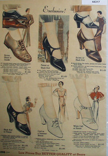 Sears Shoes 1933 Ad
