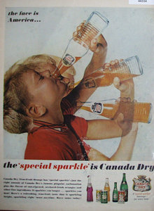 Canada Dry Beverage 1962 Ad.