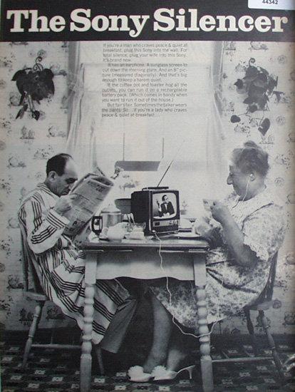 Sony Television 1967 Ad