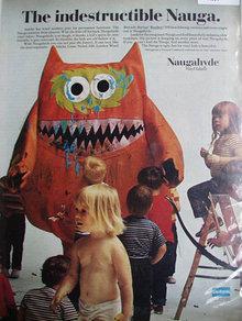 Uniroyal Naugahyde Vinyl Fabric 1967 Ad