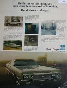 Chrysler Newport 1972 Ad