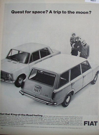 Fiat 124 Four door Sedan 1967 Ad