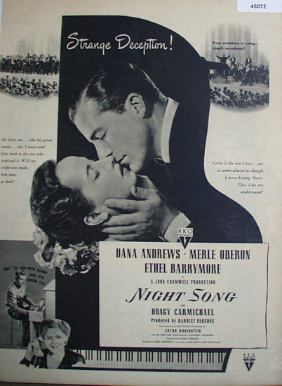 Movie Night Song 1948 Ad.