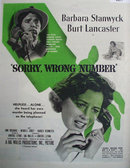 Movie Sorry Wrong Number 1948 Ad.