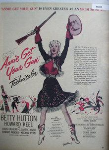 Movie Annie Get Your Gun 1950 Ad