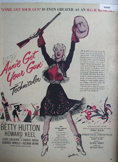 Movie Annie Get Your Gun 1950 Ad