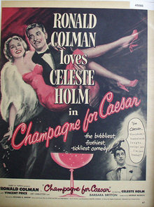 Movie Champagne For Caesar 1950 Ad.