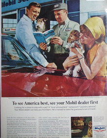 Mobil Gas And Oil 1965 Ad