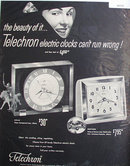Telechron Clocks 1950 Ad.
