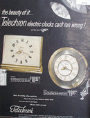 Telechron Electric Clocks 1950 Ad