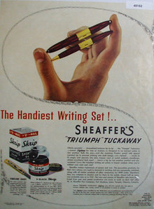 Sheaffers Products 1943 Ad.