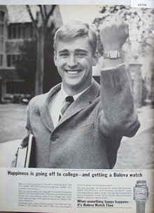 Bulova Watch 1965 Ad.
