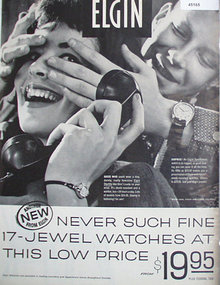 Elgin Sportsman Watch 1960 Ad.