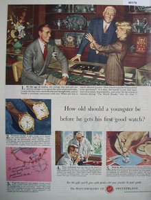 The Watchmakers Of Switzerland 1949 Ad