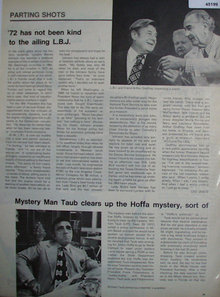 Parting Shots L.B.J. 1972 Article