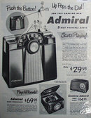 Admiral Radios 1950 Ad