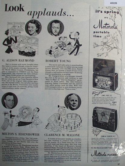 Motorola Portable Radios 1950 Ad.