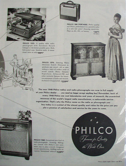 Philco Radio Time 1947 Ad.