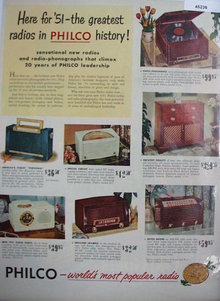Philco Radio Phonograph 1950 Ad.