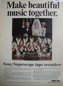 Sony Superscope Tape Recorders 1969 Ad