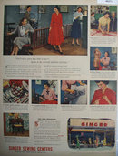 Singer Sewing Centers 1948 Ad.