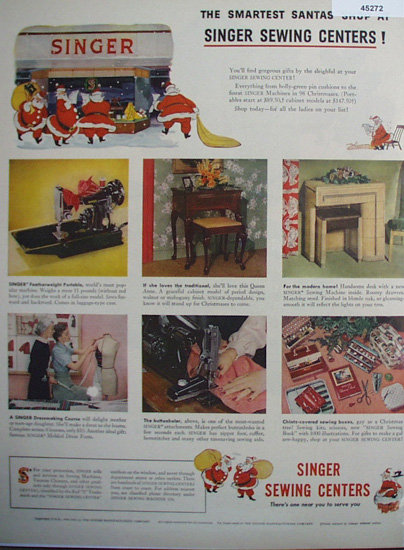 Singer Sewing Centers 1949 Ad.
