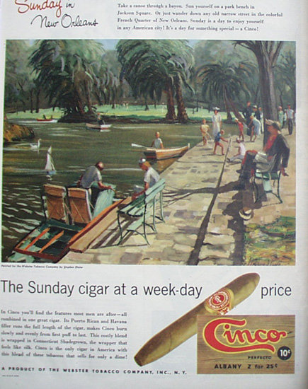 Cinco Cigar 1948 Ad.