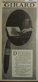 Girard Cigars 1920 Ad.
