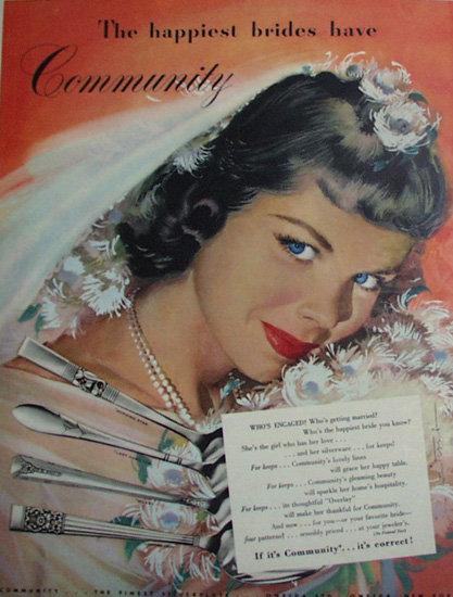 Oneida Community Silverplate 1948 Ad.