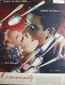 Oneida Community Silverplate 1950 Ad