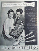 Rogers Sterling Silverware 1950 Ad.