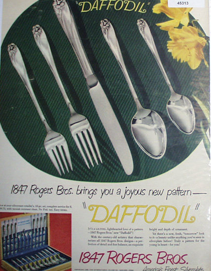 1847 Rogers Bros. Silverplate 1950 Ad.