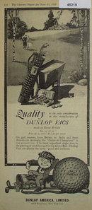 Dunlop Vacs Golf Balls 1920 Ad.