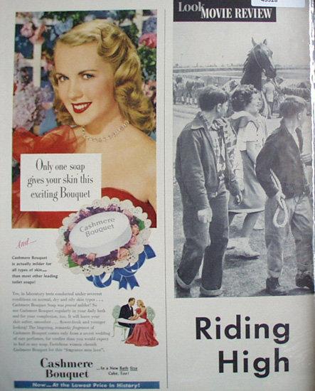 Cashmere Bouquet Soap 1950 Ad
