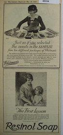 Resinol Soap 1920 Ad.