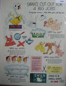 Swan 4 Soaps In One 1944 Ad