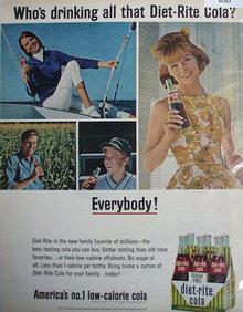 Diet Rite Cola 1965 Ad