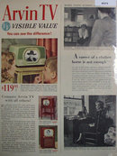 Arvin TV 1950 Ad.