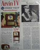 Arvin TV 1950 Ad
