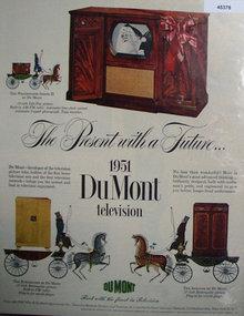 Du Mont Television 1950 Ad