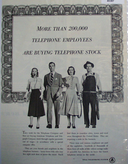Bell Telephone System 1948 Ad.