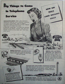 Bell Telephone System 1949 Ad