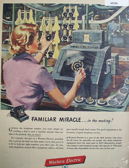 Western Electric Bell System 1950 Ad.